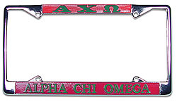 Alpha Chi Omega License Plate Frame