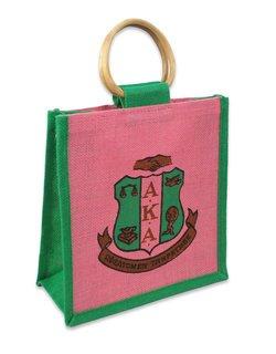 Alpha Kappa Alpha Jute Bag