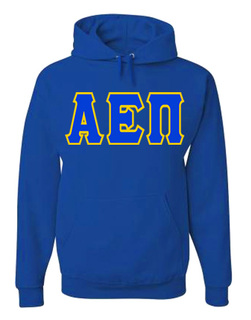 Jumbo Twill Alpha Epsilon Pi Hooded Sweatshirt