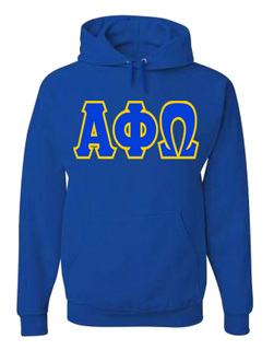 Jumbo Twill Alpha Phi Omega Hooded Sweatshirt