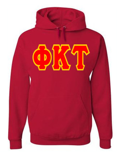 Jumbo Twill Phi Kappa Tau Hooded Sweatshirt