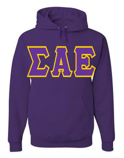 Jumbo Twill Sigma Alpha Epsilon Hooded Sweatshirt