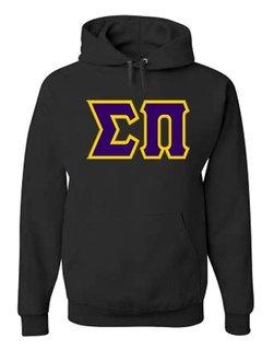 Jumbo Twill Sigma Pi Hooded Sweatshirt