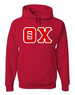 Jumbo Twill Theta Chi Hooded Sweatshirt