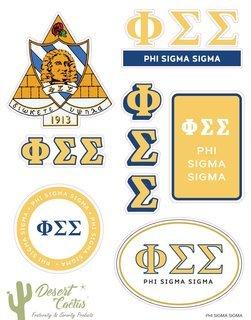 Phi Sigma Sigma Traditional Sticker Sheet