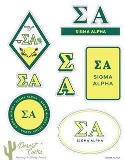 Sigma Alpha Traditional Sticker Sheet