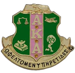 Alpha Kappa Alpha 3D Color Shield Pins