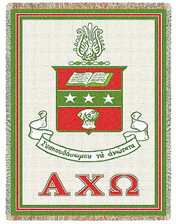 Alpha Chi Omega Afghan Blanket Throw