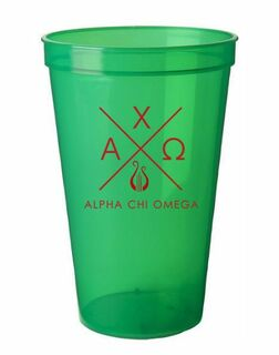 Alpha Chi Omega Infinity Giant Plastic Cup