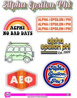 Alpha Epsilon Phi Retro Sticker Sheet
