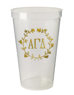 Alpha Gamma Delta Greek Wreath Giant Plastic Cup