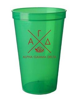 Alpha Gamma Delta Infinity Giant Plastic Cup