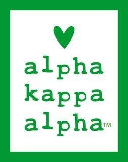 Alpha Kappa Alpha Simple Heart Sticker