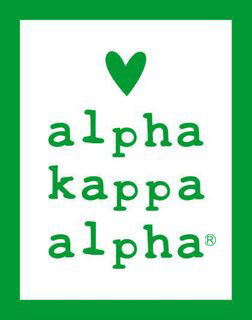 Alpha Kappa Alpha Simple Heart Sticker