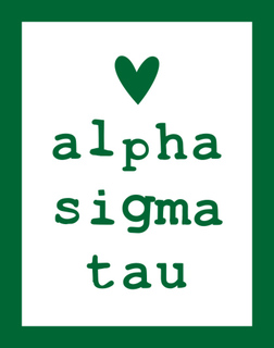 Alpha Sigma Tau Simple Heart Sticker