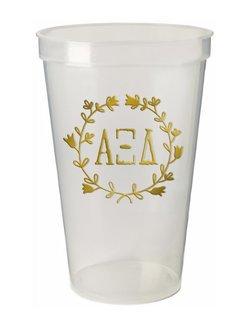 Alpha Xi Delta Greek Wreath Giant Plastic Cup