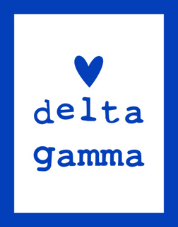 Delta Gamma Simple Heart Sticker