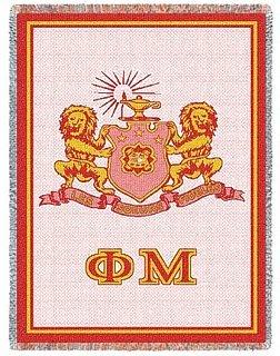 Phi Mu Afghan Blanket Throw