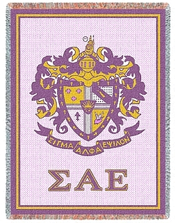 Sigma Alpha Epsilon Afghan Blanket Throw