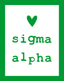 Sigma Alpha Simple Heart Sticker