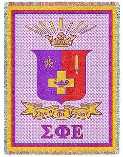 Sigma Phi Epsilon Afghan Blanket Throw