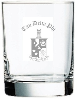Tau Delta Phi Old Style Glass