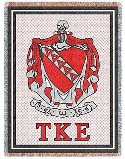 Tau Kappa Epsilon Afghan Blanket Throw