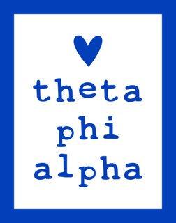 Theta Phi Alpha Simple Heart Sticker