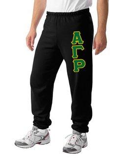 Alpha Gamma Rho Lettered Sweatpants