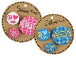 Sorority Buttons 3 Pack