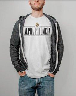 Alpha Phi Omega Line Crest Tee
