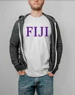 FIJI Fraternity Lettered Tee - $14.95!