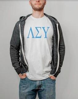 Lambda Sigma Upsilon Lettered Shirt