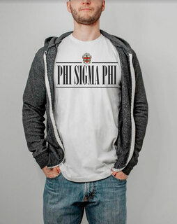 Phi Sigma Phi Line Crest Tee