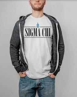 Sigma Chi Line Crest Tee