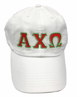Alpha Chi Omega Double Greek Letter Cap