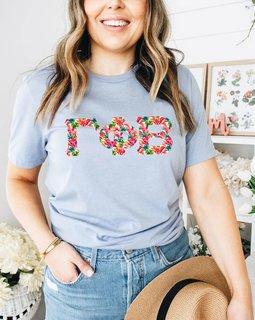 Gamma Phi Beta Comfort Colors Lettered Greek Short Sleeve T-Shirt