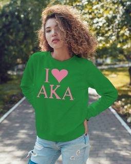 I Love Alpha Kappa Alpha Sweatshirt