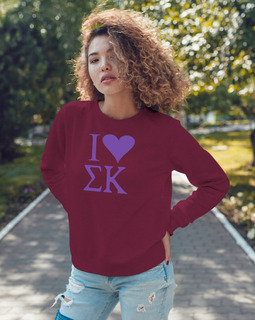 I Love Sigma Kappa Crewneck Sweatshirt