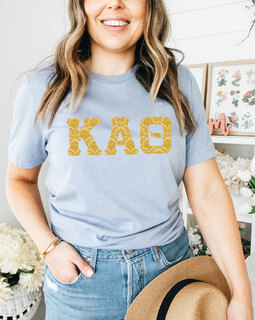 Kappa Alpha Theta Comfort Colors Lettered Greek Short Sleeve T-Shirt