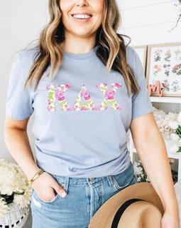 Kappa Delta Chi Comfort Colors Lettered Greek Short Sleeve T-Shirt