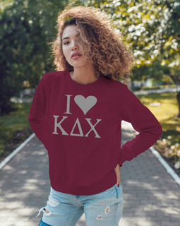 Kappa Delta Chi I Love Crewneck Sweatshirt