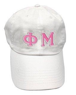 Phi Mu Double Greek Letter Cap
