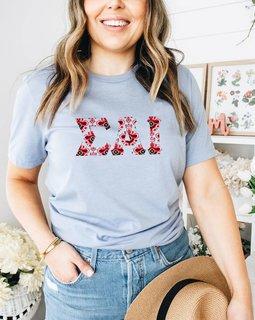 Sigma Alpha Iota Comfort Colors Lettered Greek Short Sleeve T-Shirt
