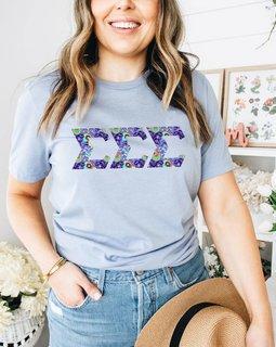 Sigma Sigma Sigma Comfort Colors Lettered Greek Short Sleeve T-Shirt
