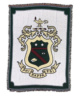 Phi Kappa Psi Afghan Blanket Throw