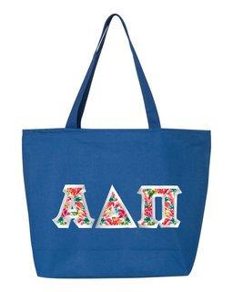 $19.99 Alpha Delta Pi Custom Satin Stitch Tote Bag