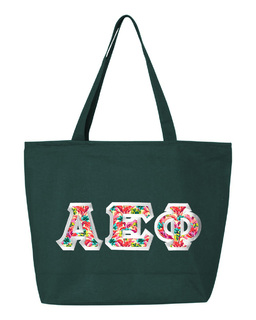 $19.99 Alpha Epsilon Phi Custom Satin Stitch Tote Bag