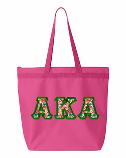 $19.99 Alpha Kappa Alpha Custom Satin Stitch Tote Bag