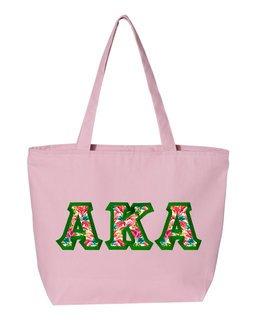 $19.99 Alpha Kappa Alpha Custom Satin Stitch Tote Bag